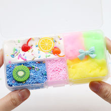 Favourite boxed cherry cotton mud slime bow diyslime kit crystal