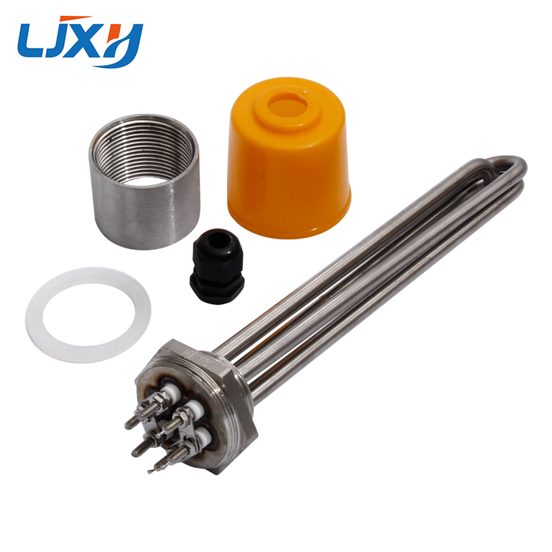 LJXH DN40 Tubular Water Heating Element 220V/380V 3KW/4.5KW/6KW/9KW/12KW All 304SS With Interal Nut Spare Parts For Boiler Tank