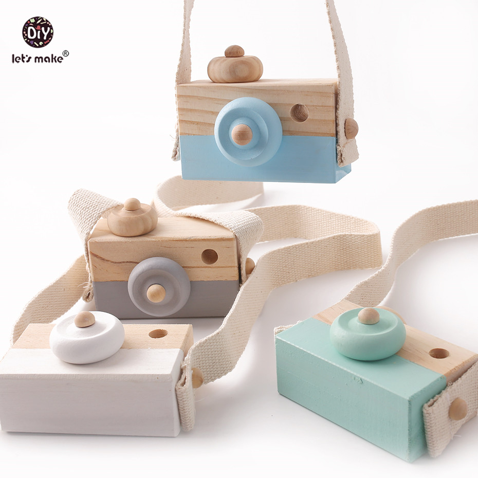 Let's Make Montessori Baby Toys 1pc Beech Wooden Cute Camera Wooden Blocks Baby Product Gifts Fashion Clothing Accessories Gifts