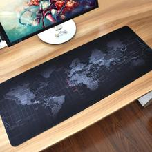 VODOOL Extra Large Mouse Pad World Map Mousepad Anti-slip Natural Rubber Gaming Mouse Mat w Locking Edge for Office/Game/Desktop jialong extra large mouse pad old world map gaming mousepad anti slip natural rubber gaming mouse mat with locking edge