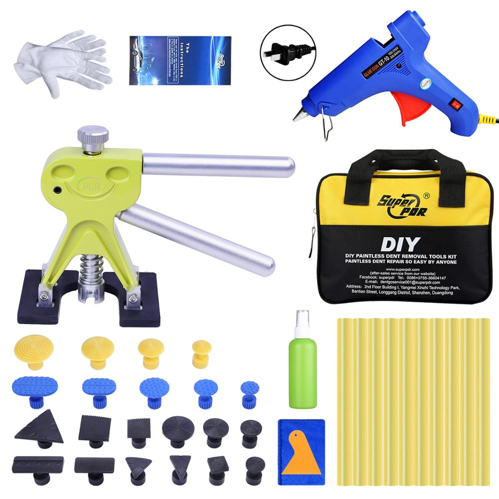 SuperPDR Tools Kit For Car Dent Puller Suction Cup Hand Tool Set with Bag Hot Adhesive Glue Sticks For Hot Melt Glue Gun Toolkit super pdr tools dent removal kit for car dent puller suction cup glue sticks for hot melt glue gun line board pump wedge air bag