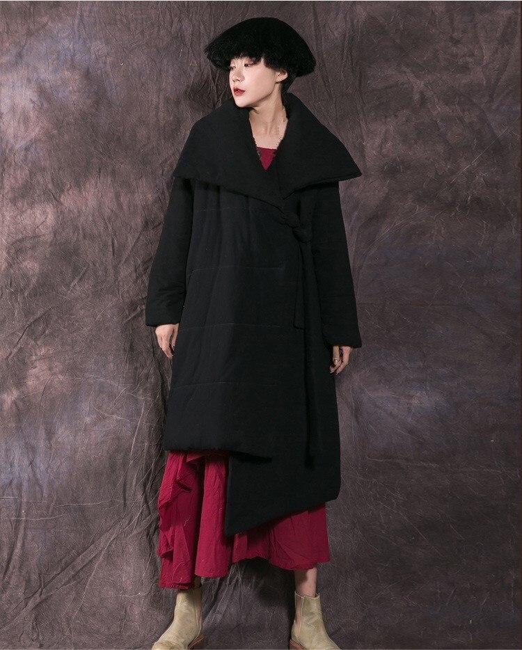 Parkas gris Coton Mince Up Survêtement Rembourré Hiver Épaissir Mode Longue Noir Manteau Lace Veste Femme BqwCvaUq