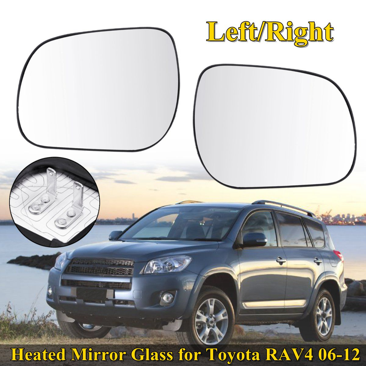 TOYOTA PRIUS 2009 DOOR WING MIRROR GLASS CONVEX HEATED RIGHT OR LEFT