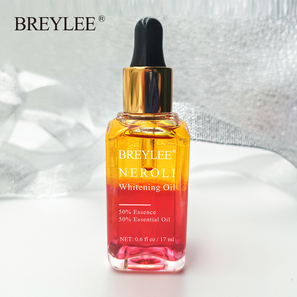 BREYLEE Neroli Whitening Essential Oils Fade Dark Spots Remove Face Freckle Brighten Moisturizer Essence Oil Facial Skin Serum