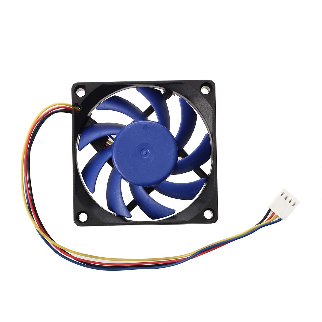 PPYY NEW -12V DC 32 <font><b>70mm</b></font> 4-Pin Computer Case CFM <font><b>PWM</b></font> CPU PC <font><b>Fan</b></font> Blue & Black image