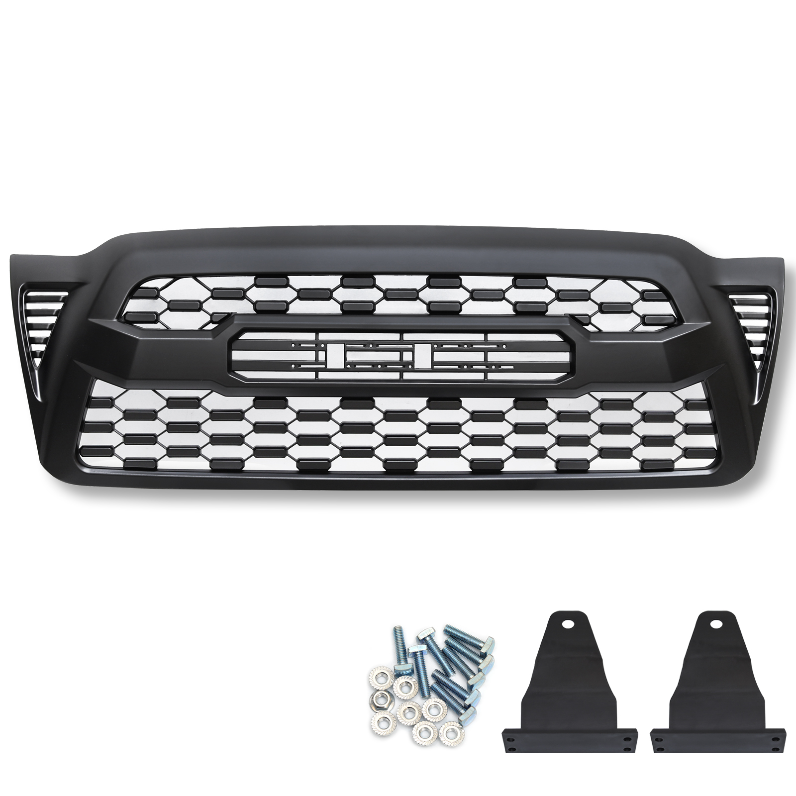 Front Bumper Hood Grille Grill For Toyota Tacoma 2005-2011 ABS Plastic Car Auto Accessorie Grille Matte Black with LettersFront Bumper Hood Grille Grill For Toyota Tacoma 2005-2011 ABS Plastic Car Auto Accessorie Grille Matte Black with Letters