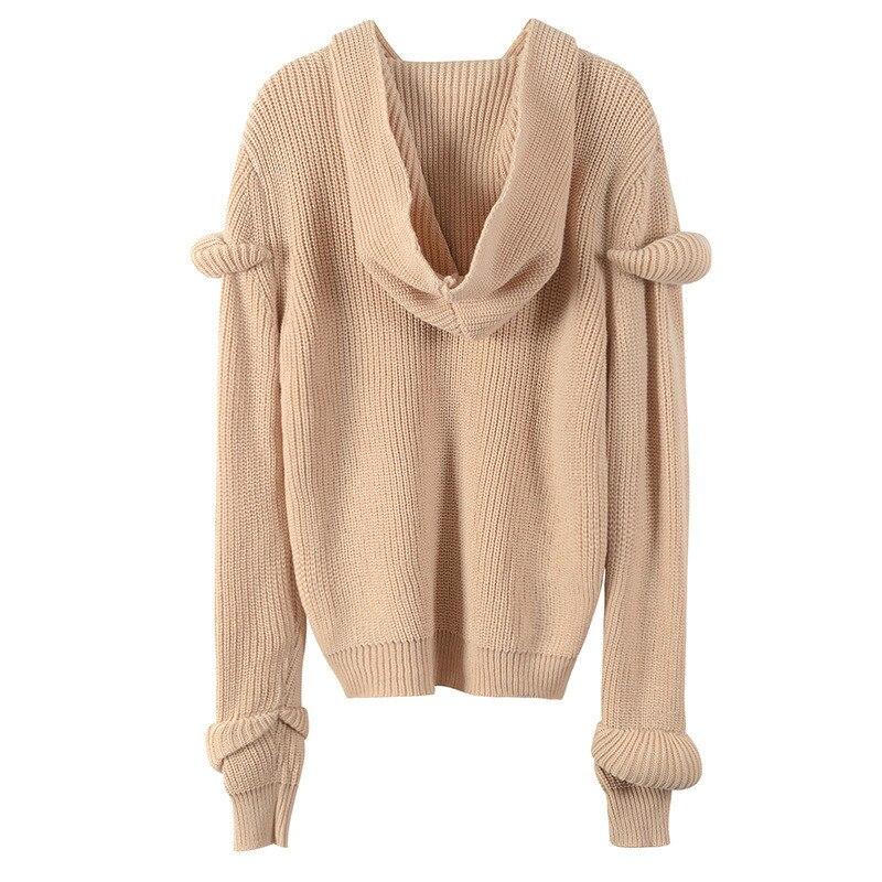 Vêtements Manches Cachemire Lâche Femmes Pull 2019 À Femelle Haute En Longues Streetwear Perles Qualité Printemps Harajuku Jumper nqwn6v4Waf