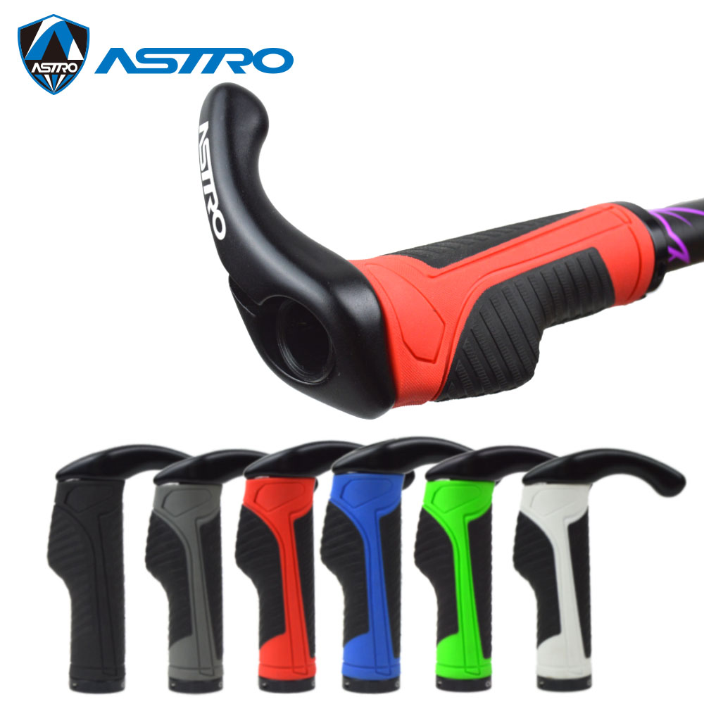 Astro Bicycle Grips MTB Mountain Road <font><b>Bike</b></font> Handlebar Grips <font><b>Bar</b></font> <font><b>Ends</b></font> Alloy <font><b>Rubber</b></font> Silicone Soft Lock on Cycling Handle Grips Plug image