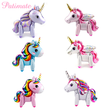 PATIMATE Unicorn Baby Shower Decor Party Decoration Pink Girl Supplies Birthday Decors Unicornio