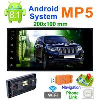 2 Din 200*100 7 inch Touch Screen Quad Core Android 8.1 Car MP5 Player GPS FM WiFi Bluetooth Video Media Player For Toyota