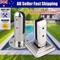 Durable Floor Standing Glass Clamp Rectangular Shape Stairs Balcony Bathroom Pool Glass Spigots Post Balustrade Railing Clip New