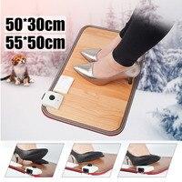 Electric Heating Pad Thermal Foot Feet Warmer Heated Floor Carpet Mat Pad Home Office Warm Feet