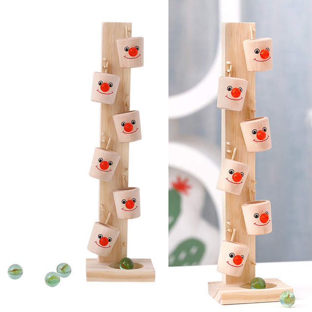 Us 1281 1pcs Marble Ball Drop Toy Educational Wooden Marble Ball Interaction Toys Run Track Stand Column For Kids Toddler Children In Wood Diy