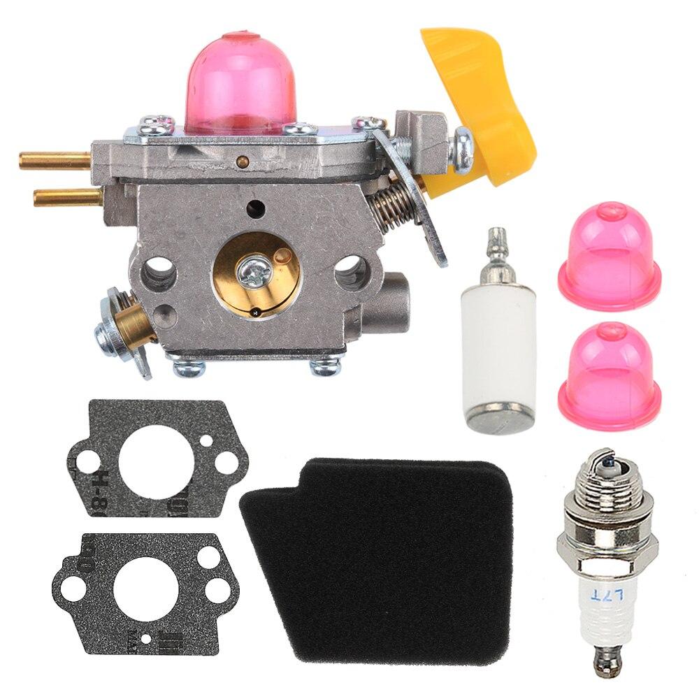 Carburetor Air Fuel Filter Sets For Poulan BVM210VS SM210VS Leaf Blowers Zama C1U-W45A 545180811 545146501