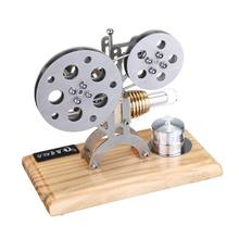 Film Projector Style Stirling Engine Model Toy Children Student School Learning Physics Doing Experiment Model Building Kits impact pendulum experiment device momentum conservation mechanics experiment equipment high school physics experiment supplies