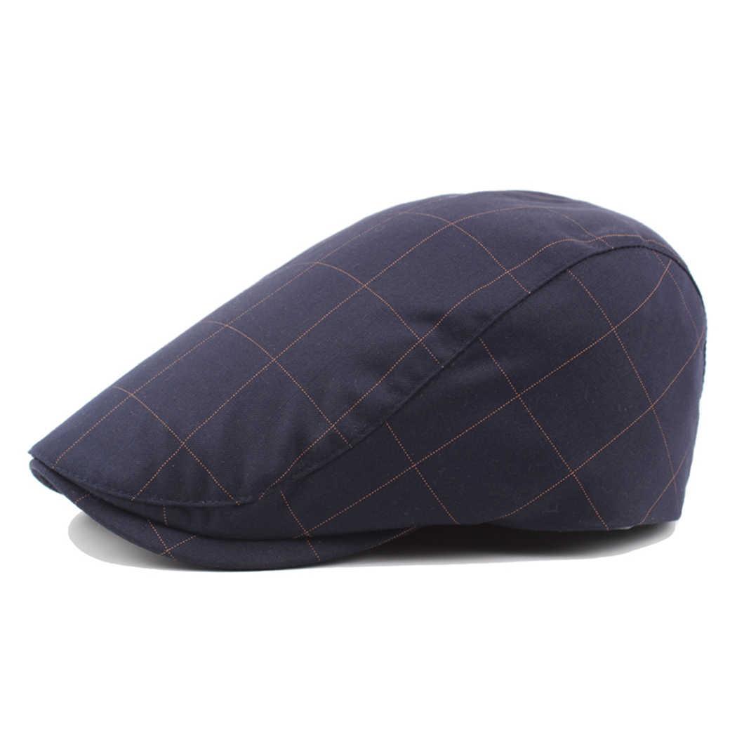 Модные дизайнерские береты винтажные кепки в клетку для женщин и мужчин французская шляпа берет английская Кепка унисекс художника плоская шляпа шерстяная barot