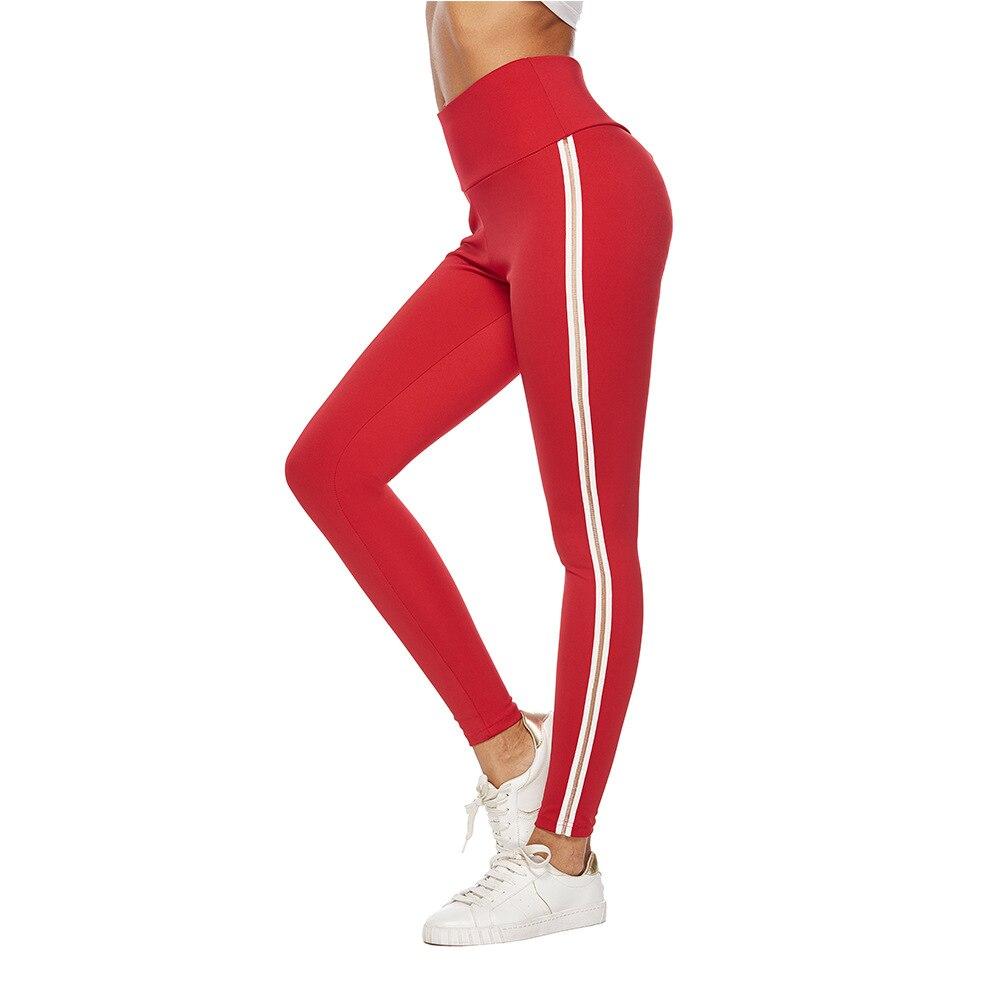 2019 Vrouwen Gymshark Sport Leggings Hoge Taille Rode Effen Campus Stijl Jong Meisje Broek Fitness Jogging Mujer Klassieke Sport Wear