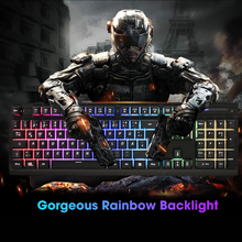 G081 Wired German French Language Gaming Keyboard Colorful Backlit Glowing Keyboard Similar Mechanical Keyboard For PC Gamer цена и фото