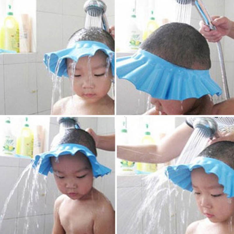 Adjustable Baby Kids Shampoo Bath Bathing Shower Cap Hat Wash Hair Shield OJ