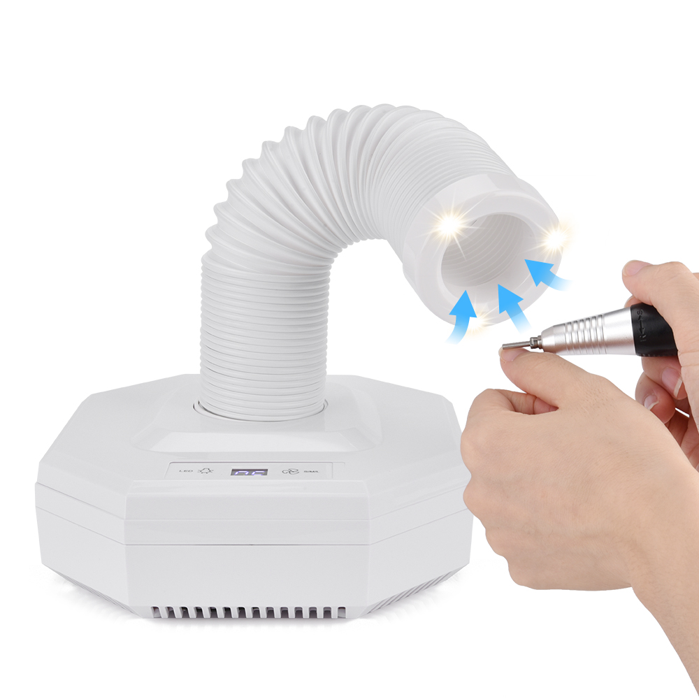 2 Motors High Suction Nail Dust Collector Machine UV Gel Nail Polish Manicure Vacuum Cleaner Nail Art Tool No-spilling Filter high quality cyclone filter dust collector wood working for vacuums dust extractor separator cnc machine construction