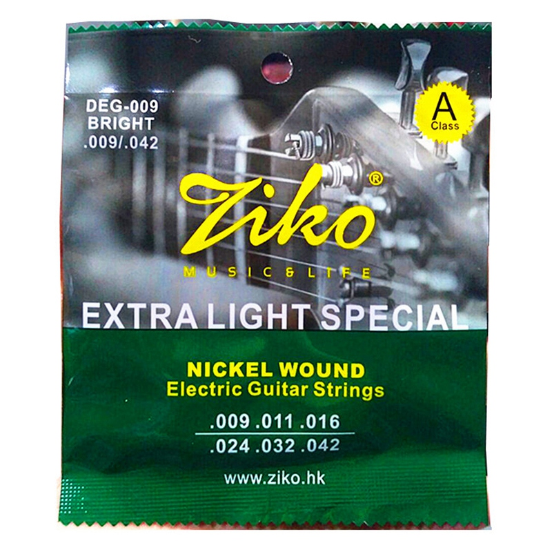 ABGZ-Ziko Deg 009-042 Electric Guitar Strings Nickel Wound Extra Light Special Strings Musical Instrument Guitar Accessories P