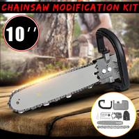 10 Inch 33cm DIY Chainsaw Bracket Changed 100 125 150 Angle Grinder Into Chain Saw for Electric Saw Parts Woodworking Tool