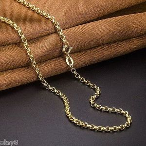 Image 3 - Au750  Real 18K Yellow Gold Necklace 2mm Cable Link Chain  60cm L 24inch