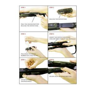 Image 4 - Professional Steam Ceramic Hair Straightener Flat Iron,Hair Salon Steam Styler Ionic Steamer 3 in 1 Straightner Curler Flip up