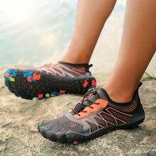 Мужские и женские прочные треккинговые кроссовки, Уличная обувь для альпинизма, треккинга, спортивная обувь, нескользящая обувь на плоской подошве, унисекс, болотные водонепроницаемые кроссовки