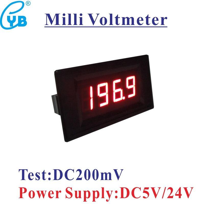 Free Shipping LED Digital Voltmeter DC 0 200mV Panel Volt