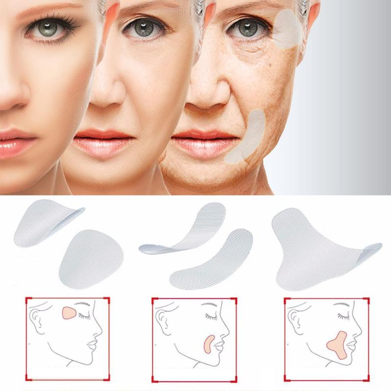 12/27/24pcs Thin Face Stickers Facial Line Wrinkle Sagging Skin Lift Up Tape Frown Smile Lines Forehead Anti-Wrinkle Patches