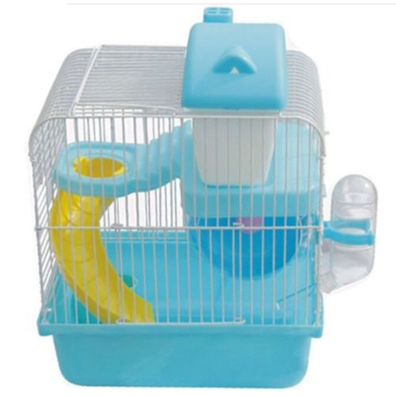 Hot Sale-Hot Hamster Gerbil Mouse Small Pet Cage 2 Storey Levels Floor Water Bottle Wheel