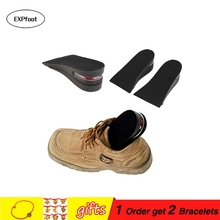 1 Pair 2Layer 5CM Taller Soft Silicone Air up Elevator Insole Lift Kit Taller Pad foot care Unisex Half Inserts Height Increase