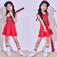 Songyuexia/Детские джазовые танцевальные костюмы для девочек, современный танцевальный джаз, хлопковое платье, летняя одежда для сцены, костюмы ...