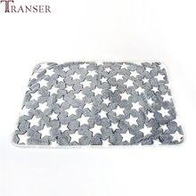 Transer кровать для собаки, мягкий фланелевый флис, принт со звездой, теплое одеяло для питомца, покрывало для кровати, коврик для маленькой средней собаки, кошки, 80102