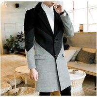 Зимние мужские пальто большого размера 5XL Подростковая мужская длинная куртка хит продаж длинное пальто для мужчин