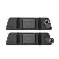 Anytek T500 + 9.88In 2.5D изогнутые нажатие на экран Двойной объектив автомобиля Зеркало заднего вида Dvr Камера видео Регистраторы вождения Регистрат