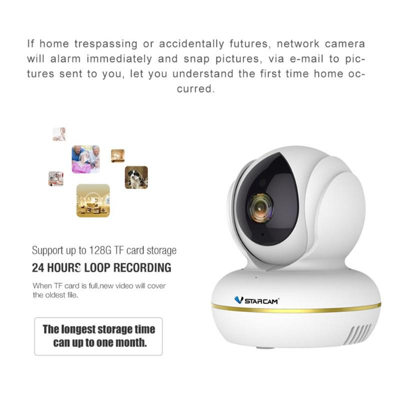 VStarcam C22S IP Camera Wi-Fi 1080P Video Surveillance Monitor Security Wireless Cam with Two Way Audio Night Vision EYE4 APPVStarcam C22S IP Camera Wi-Fi 1080P Video Surveillance Monitor Security Wireless Cam with Two Way Audio Night Vision EYE4 APP