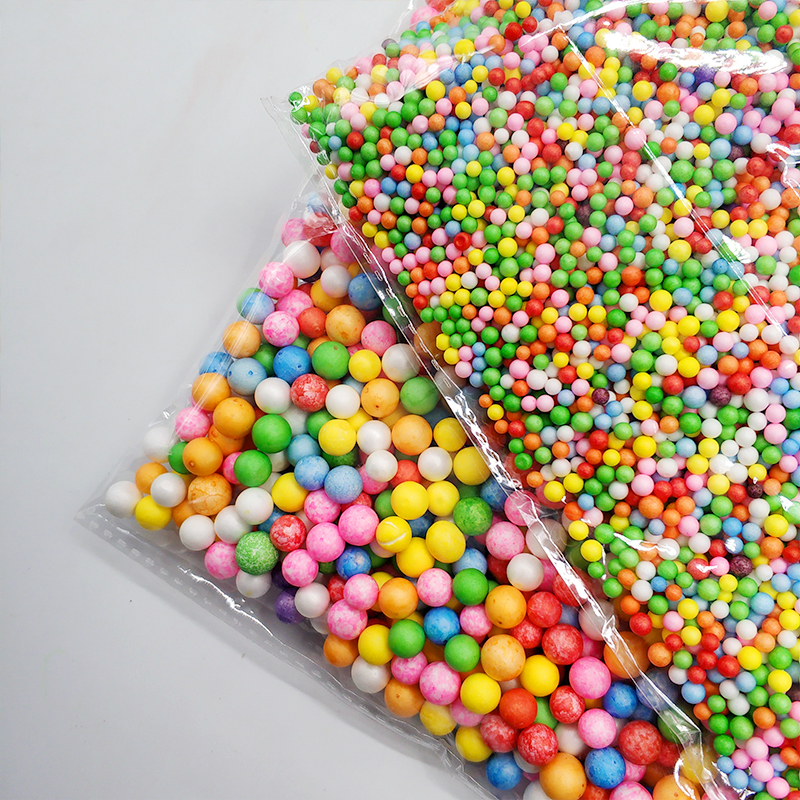 Colorful Styrofoam Balls Mini Decorative Foam Balls DIY Craft Supplies DIY Toys Beads Toy Slime Clay Accessories For Children