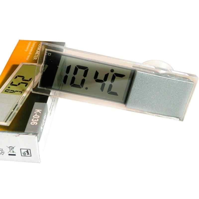 MÀN HÌNH điện tử LCD Xe gắn Máy Osculum Loại Nhiệt Kế Kỹ Thuật Số Cửa Sổ C F Xe Nhiệt Kế Kỹ Thuật Số Đồng Hồ
