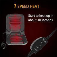 Car Double Seat Single Sit Heating Cushion Car Winter Electric Seat Temperature Adjustment 2pcs