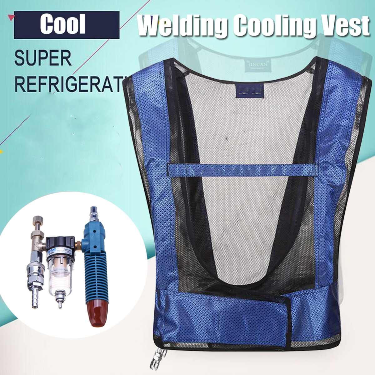 Safurance Portable Welding Cooling Vest Clothing MIG TIG Welding Clothes Cool Clothes Air Conditioning Cooling Vest