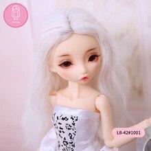 Парик для куклы BJD Размер 4,5-6 дюймов 1/8 Высокая температура натуральный длинный парик для шарнирной куклы yosd кукла в красоте