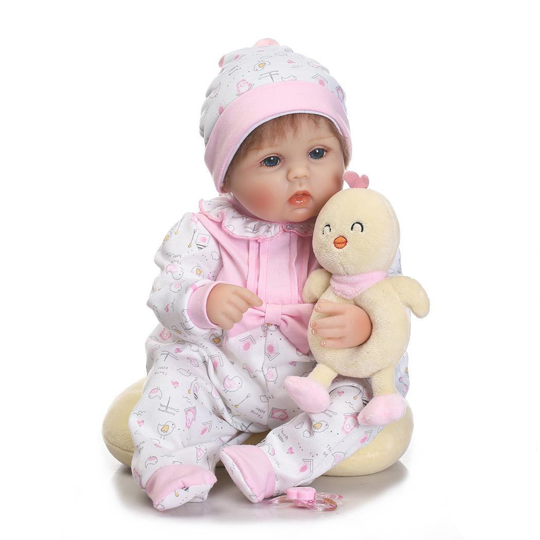 Kids Soft Silicone Realistic With Clothes Collectibles, Gift, Playmate Reborn Opened Eyes 2-4Years Baby DollKids Soft Silicone Realistic With Clothes Collectibles, Gift, Playmate Reborn Opened Eyes 2-4Years Baby Doll
