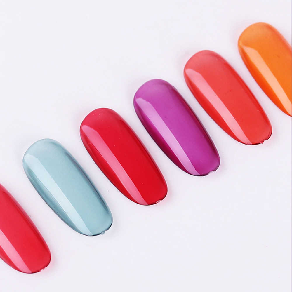 6 ml Kleur Veranderende Nagellak Milde Smaakloos Zonlicht UV Transparante Vloeibare Latex Nail Stamping Holografische Nagellak TSLM1