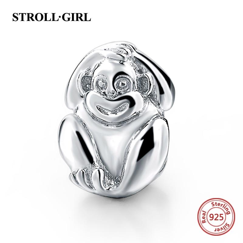 Strollgirl New Authentic 925 Sterling Silver Original Monkey Monkey - Bizhuteri të modës - Foto 6