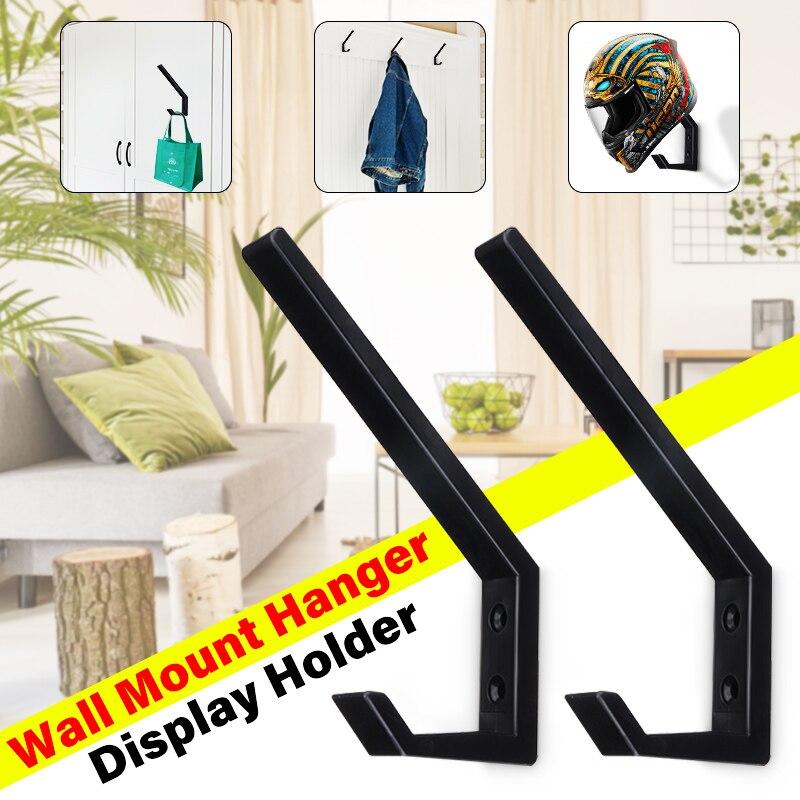 1pair Multi-Purpose Solid Hooks Helmet Holder Clothing Jacket Bags keys Hook for Home Kitchen Cabinet Wall Mount Hanging