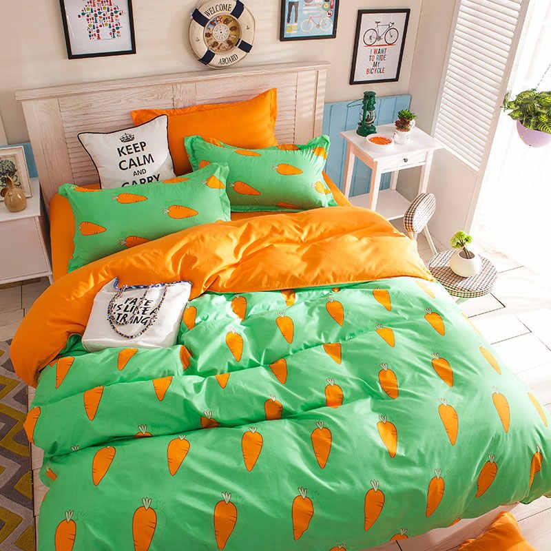 Reactive Printing sheet pillowcase & duvet cover set New Pastoral Bedding set modern bed linen bedclothes 3 or 4pcs/set kids set