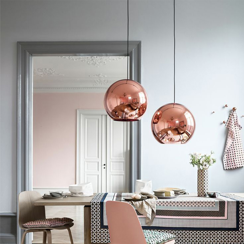 SETTEMBRE Modern Pendant Light Glass Ball Kitchen Lamp Pendant Gold Chrome Copper Lamparas Colgantes For Dining Room Tom Dixon