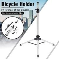 132cm Heavy Aluminum Alloy Bike Repair Stand Adjustable Fold Bike Rack Holder Storage Bicycle Stand Bicycle Repair Tools
